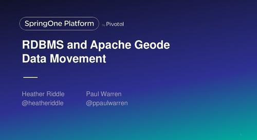 RDBMS and Apache Geode Data Movement: Low Latency ETL Pipeline By Using Cloud-Native Event Driven Microservices