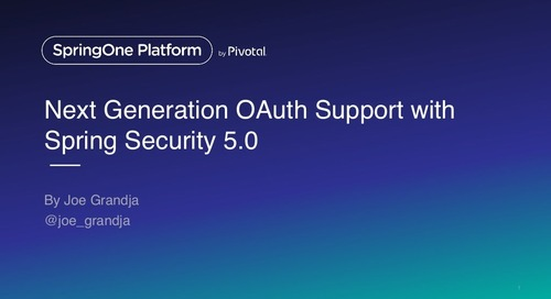 Next Generation OAuth Support with Spring Security 5.0