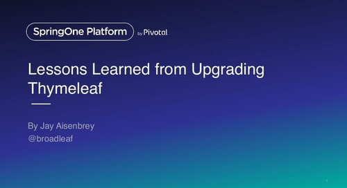 Lessons learned from upgrading Thymeleaf