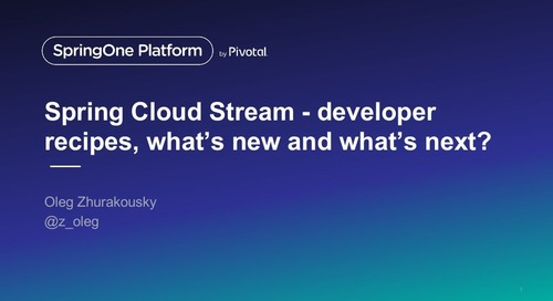 Spring Cloud Stream: What's New in 2.x—and What's Next?
