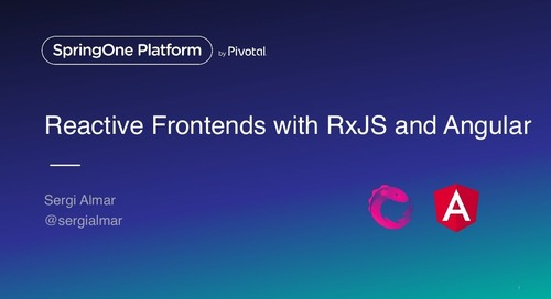 Reactive frontends with RxJS and Angular