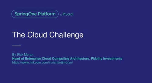 The Cloud Challenge