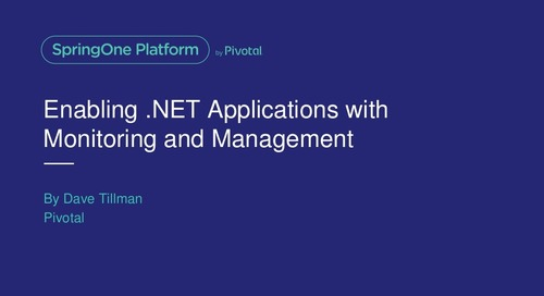 Enabling .NET Apps with Monitoring and Management Using Steeltoe