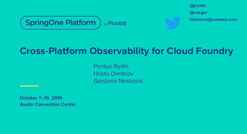 Cross-Platform Observability for Cloud Foundry