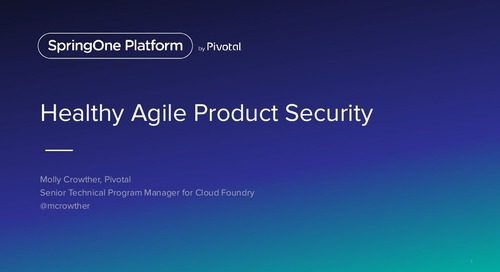 Healthy Agile Product Security