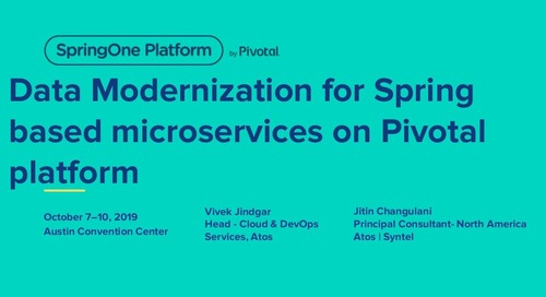 Data Modernization for Spring-Based Microservices on Pivotal Platform