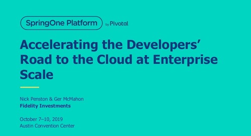 Accelerating the Developers' Road to the Cloud at Enterprise Scale