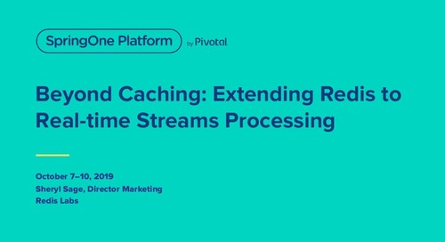 Beyond Caching: Extending Redis Enterprise for Real-Time Streams Processing