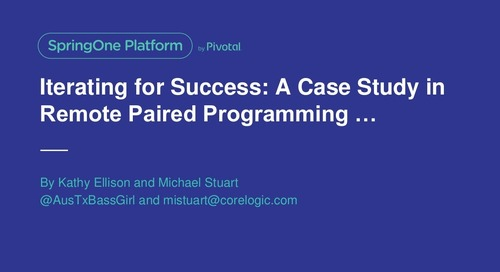 Iterating For Success: A Case Study in Remote Paired Programming, The Evolution of a Dream With an International Twist