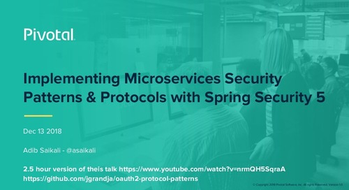 Implementing Microservices Security Patterns & Protocols with Spring