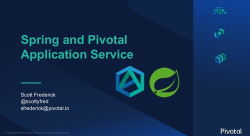 Spring and Pivotal Application Service - SpringOne Tour Dallas