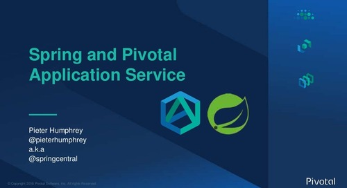 Spring Boot & Spring Cloud on Pivotal Application Service - Pieter Humphrey