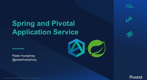 Spring and Pivotal Application Service - SpringOne Tour - Boston