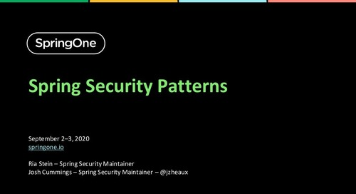 Spring Security Patterns