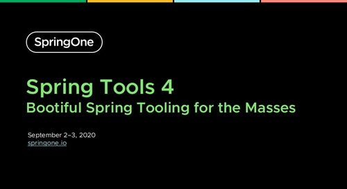 Spring Tools 4: Bootiful Spring Tooling for the Masses