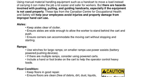 Safety Tip: Hand Cart Use & Design