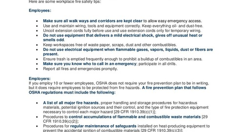 Workplace Fire Safety Tips for Employees and Employers