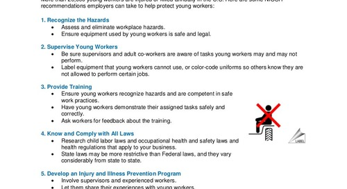 Safety Tips for Young Workers