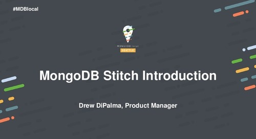 Building Your First App with MongoDB Stitch