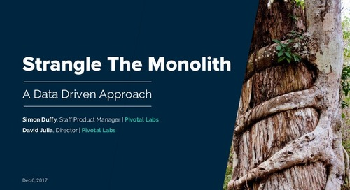 Strangling the Monolith With a Data-Driven Approach: A Case Study