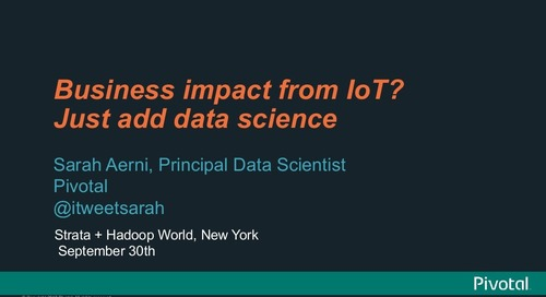 Business Impact From IoT? Just Add Data Science
