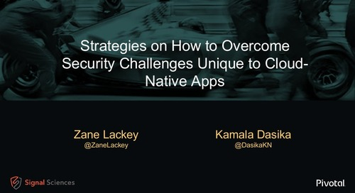 Strategies on How to Overcome Security Challenges Unique to Cloud-Native Apps