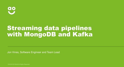 Streaming Data Pipelines with MongoDB and Kafka at ao.com