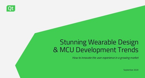Stunning Wearable Design & MCU Development Trends