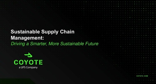 SlideShare: Sustainable Supply Chain Management