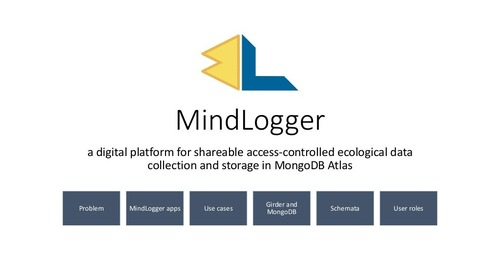 MongoDB World 2019: Mindlogger: A Digital Platform for Shareable Access-controlled Ecological Data Collection and Storage in MongoDB Atlas [