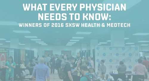 Winners of 2016 SXSW Health & MedTech