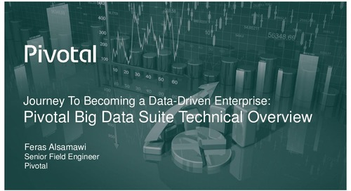 Pivotal Digital Transformation Forum: Journey to Become a Data-Driven Enterprise