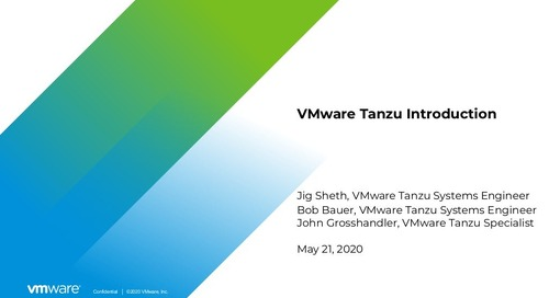 VMware Tanzu Introduction
