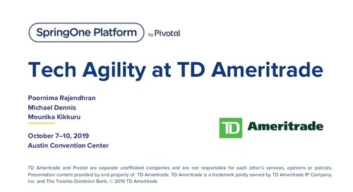 Tech Agility at TD Ameritrade