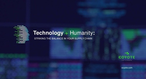 Technology + Humanity: Striking the Right Balance in Your Supply Chain