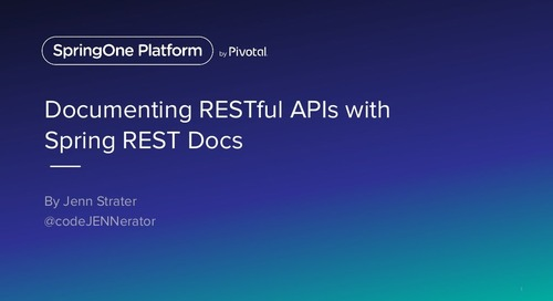 Documenting RESTful APIs with Spring REST Docs