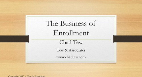 The Business of Enrollment