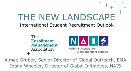 The New Landscape: International Student Recruitment Outlook