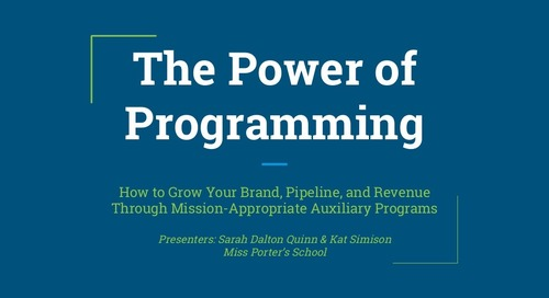 The Power of Auxiliary Programming: Growing Brand, Pipeline, and Revenue