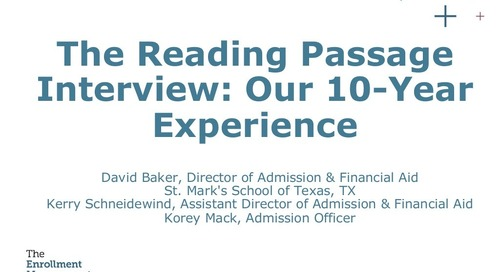 The Reading Passage Interview: Our 10-Year Experience