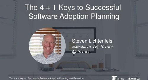 The 4 + 1 Keys to Successful Software Adoption