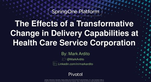 The Effects of a Transformative Change in Delivery Capabilities at Healthcare Service Corp