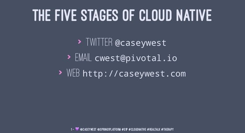 The Five Stages of Cloud-Native