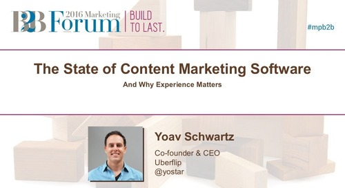 The State of Content Marketing Software