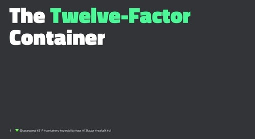 The Twelve Factor Container