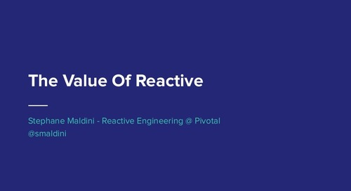 The Value of Reactive Design - Stéphane Maldini
