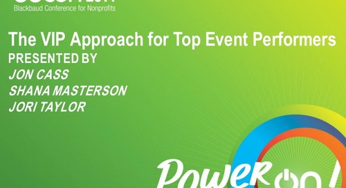 The VIP Approach to Top Event Performers