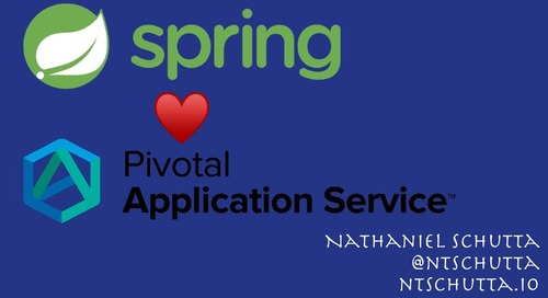 Spring Boot & Spring Cloud on PAS- Nate Schutta (1/2)