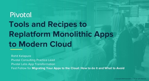 Tools and Recipes to Replatform Monolithic Apps to Modern Cloud Environments