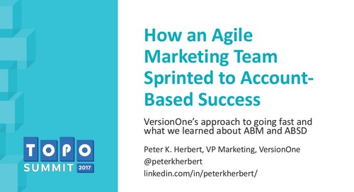 How an Agile Marketing Team Sprinted to Account-Based Success